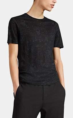 John Varvatos Men's Skull-Motif Linen Jersey T-Shirt - Black
