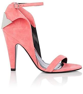 Calvin Klein Women's Leititia Suede Sandals - Rose Size 6.5