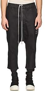 Rick Owens Men's Waxed Drop-Rise Jeans-Black