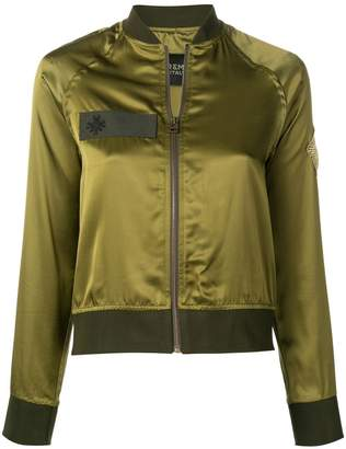 Mr & Mrs Italy contrast trim bomber jacket