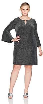 Jessica Howard Women's Plus Size Keyhole Neck Shift Dress