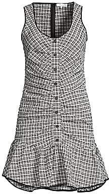 Parker Women's Sleeveless Drop Waist Check Dress