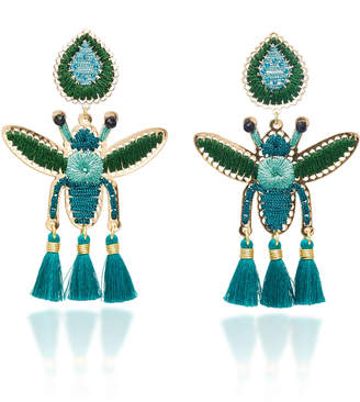 Mercedes Salazar Volador Azul Petit Earrings