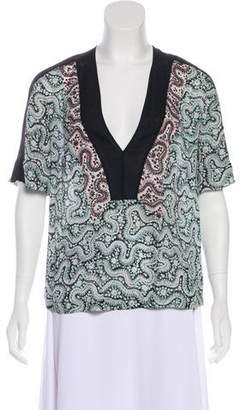 A.L.C. Silk Printed Blouse