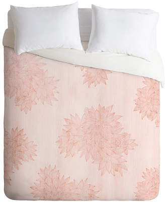 Deny Designs Iveta Abolina Beach Day Pink Queen Duvet Set