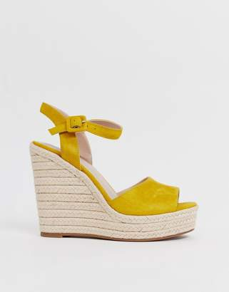 Aldo Ybelani platform heeled sandals in yellow