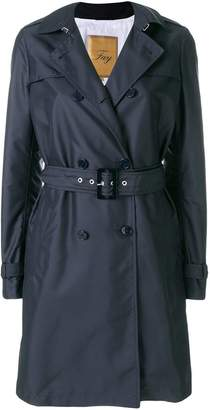 Fay belted midi trench coat