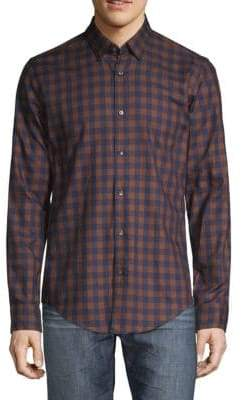 HUGO BOSS T-Ramiro Checkered Button-Down Shirt