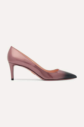 Prada Ombré Patent-leather Pumps - Lilac