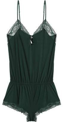 Eberjey Lace-Trimmed Jersey Playsuit