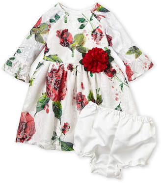 Pippa & Julie (Infant Girls) White Floral Lace Dress
