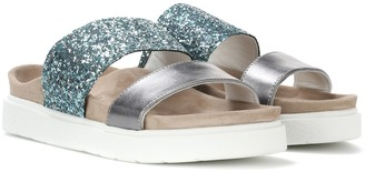 INUIKII Glitter and leather slides