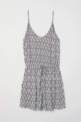 H&M V-neck Jumpsuit - White