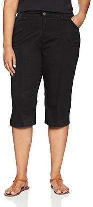 Lee Women's Plus Size Relaxed Fit Lyric Knit Waist Cargo Capri Pant