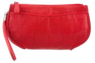 Christian Dior Grained Leather Wristlet Clutch