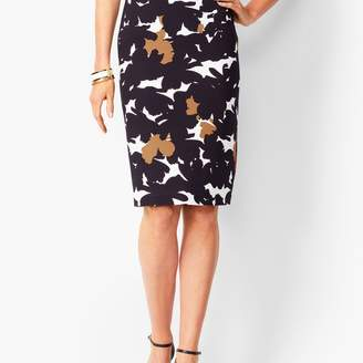 Talbots Refined Ponte Pencil Skirt - Floral