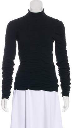 The Row Long Sleeve Ruched Turtleneck