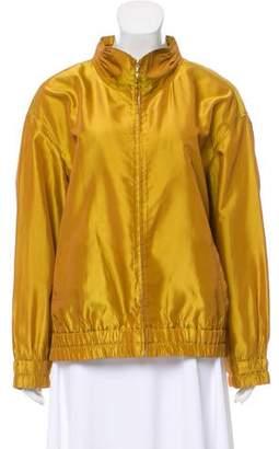 St. John Iridescent Zip Front Jacket