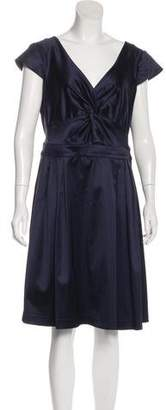 Armani Collezioni Short Sleeve Knee-Length Dress