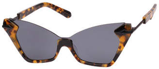 Karen Walker Sweet Cat Semi-Rimless Cat-Eye Sunglasses