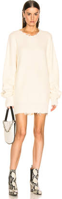 Unravel Waffle Oversize Dress in White | FWRD