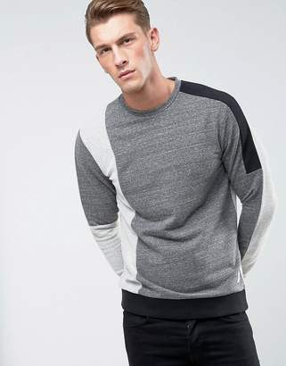 ONLY & SONS Sweatshirt with Mixed Cut and Sew Detail