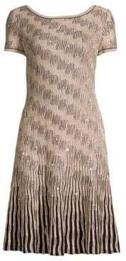St. John Sequin Trellis Sheath Dress