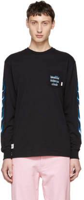 Vans Black and Blue WTAPS Edition Flame Long Sleeve T-Shirt