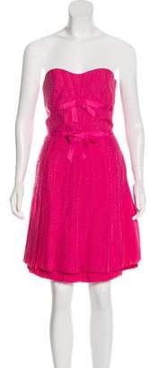 Marc by Marc Jacobs Silk Strapless Dress