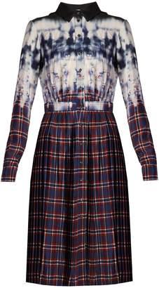 Altuzarra Maria tie-dye and check-print shirtdress