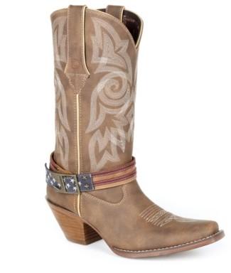 Durango Flag Strap Cowboy Boot