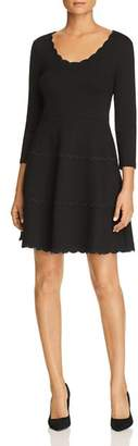 Kate Spade Scalloped Ponte Fit-and-Flare Dress