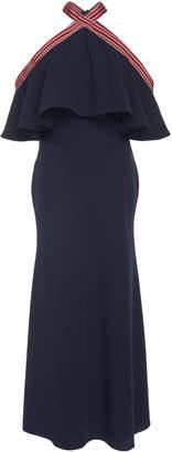Lela Rose Flutter Bodice Midi Dress