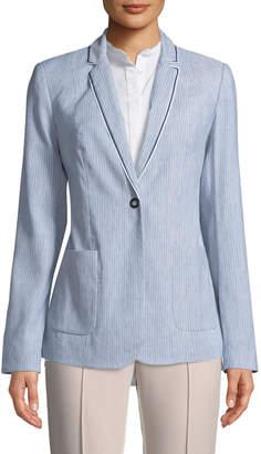 T Tahari Striped Blazer Jacket
