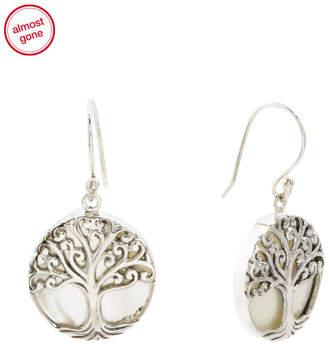 MOP Annika Witt Made In Bali Sterling Silver Tree Of Life Earrings