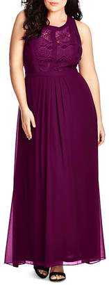City Chic Lace Inset Maxi Dress $119 thestylecure.com