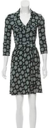 Diane von Furstenberg Silk Rev Duenne Wrap Dress