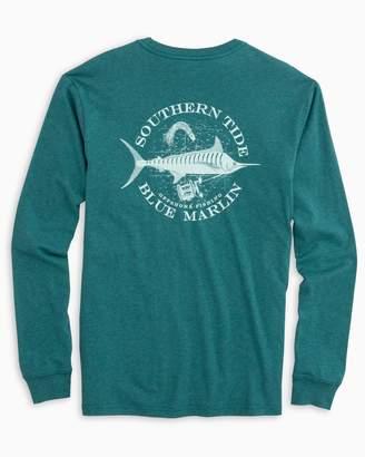 Blue Marlin Southern Tide Fish Series Long Sleeve Heathered T-Shirt