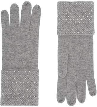 William Sharp Cashmere Embellished Gloves