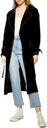 Topshop Belted Duster Coat