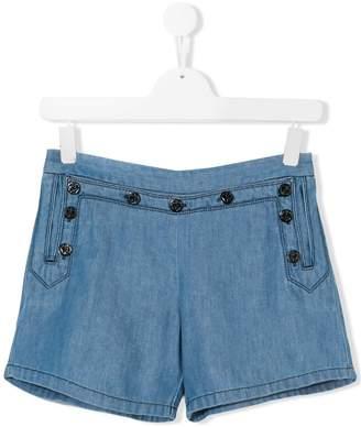 Chloé Kids TEEN buttoned denim shorts