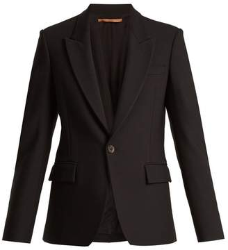 Summa - Peak Lapel Single Breasted Twill Jacket - Womens - Black