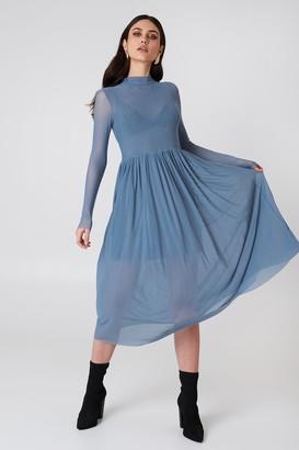Na Kd Trend Mesh LS Midi Dress