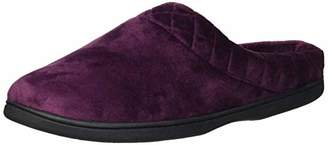 Dearfoams Women's Microfiber Velour Clog Quilted Cuff Slipper