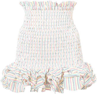 Petersyn Ruffle Hem Mini Skirt