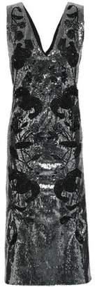 Erdem Fluted Embellished Sequined Tulle Midi Dress
