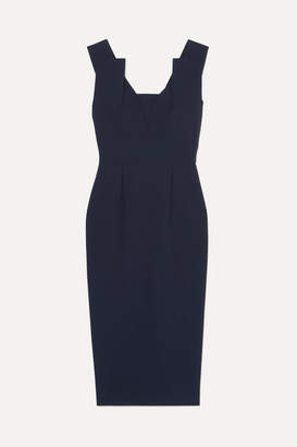 Roland Mouret Coleby Stretch-crepe Midi Dress - Navy