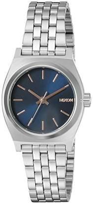 Nixon Women's A3992195-00 Small Time Teller Analog Display Japanese Quartz Silver Watch