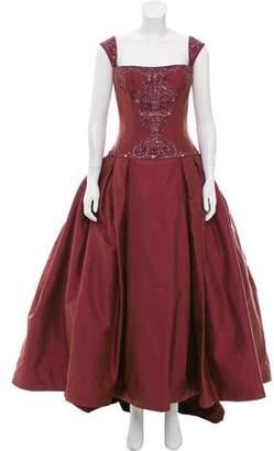 Reem Acra Beaded Sleeveless Gown w/ Tags