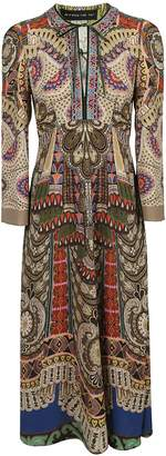 Etro Symmetrical Print Maxi Dress